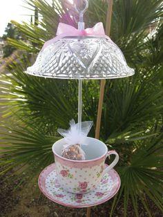 China teacup birdfeeder