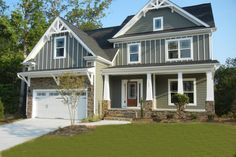 Houseplans.com Bungalow / Craftsman Front Elevation Plan #419-168