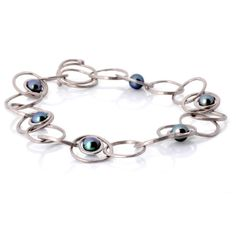 'Islet' collection freshwater pearl and white gold bracelet by James Newman Jewellery