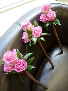 flower wands for the Bridesmaids - The Flower Mill