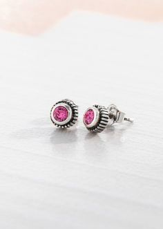 """Cotton Candy Earrings / P3163 / 1/4""""diameter / """"retiring"""" item (limited quantities) / Swarovski crystals, 925 sterling silver // #silpada #cotton #candy #earrings #handmade #jewelry"""