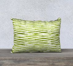 This grass green pillow case is recreated from my original hand stamped wood block print on paper. I had the wood blocks custom carved and through amazing modern digital printing techniques we can achieve the hand stamped look once printed on fabric. The white background is a softer,