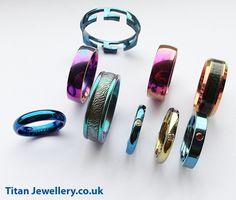 Anodised Titanium Rings