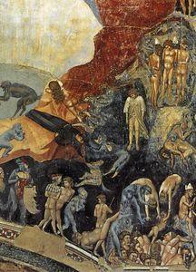 Last Judgment (detail 3) (Cappella Scrovegni (Arena Chapel), Padua), Frescoes by Giotto Di Bondone (1266-1337, Italy)