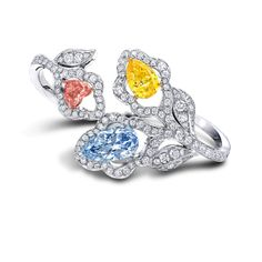 Colored Diamond Floral Bangle from Graff's diamonds 14.79 carats. Colored stones are a different weight but I don't remember what. Again, dreaming!!