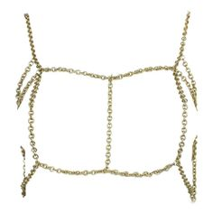 Gold-Toned Chain Body Jewelry