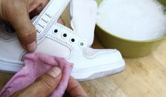 Cleaning white sneakers however is not that difficult and there are many DIY instructions online on how to keep your sneakers white and bright. How To Clean White Shoes, Clean Shoes, White Sneakers, High Top Sneakers, White Adidas Originals, Natural Cleaning Products, Green Life, Your Shoes, Stylish