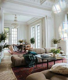 Home Interior Design .Home Interior Design Design Living Room, Boho Living Room, Home And Living, Living Room Decor, Living Spaces, Bohemian Living, Small Living, Modern Living, Boho Room