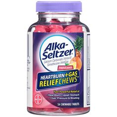 Alka-Seltzer Heartburn Plus Gas Relief Chews, Tropical Punch, 54 Count