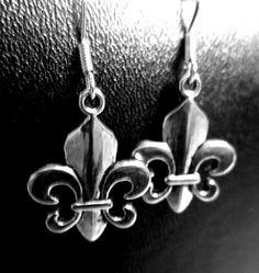 Fleur de Lis Earrings by WistfulWhimsyDesigns on Etsy, $3.60