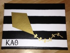 Kappa Alpha Theta Kite Canvas by Craftzzz on Etsy, $20.00