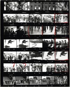 Contact sheet from 'The Americans'