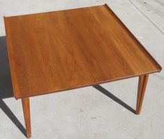 Danish teak square coffee table - $225 in West Wash Park