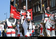 Nottingham, UK. 23rd April, 2015. The royal society of #StGeorge annual parade in #Nottingham © IFIMAGE/Alamy Live News