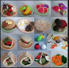 Lots of felt food tutorials