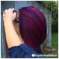 The lovely Victoria again of course ❤️ using #Pravana Vivids in Violet, Wild Orchid, and Magenta. Color melt technique. Here is the movement... Enjoy! #vivids #professional @vividartistichairdesign inspired @guy_tang inspired #colormelt #violet #hair @vamburn16 #taylerhair