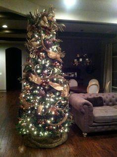 Deer antler rustic Christmas Tree #restorationhardware #Antlers #Linen