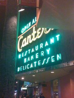 Canters Deli- across steet from CBS and Farmers Market  Hangout and good pastrami