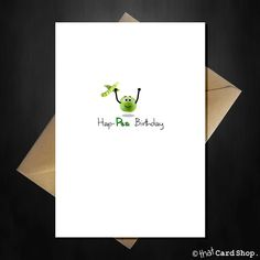 Such a cute pun card for that special someone on their Birthday, with cute Pea illustration to wish them a Happea day!! #dailyjokes #dadbirthday #funnybirthdaycards #punstagram #punsworld Cute Birthday Cards, Handmade Birthday Cards, Dad Birthday, Happy Birthday, Daily Jokes, Cute Puns, Pun Card, Mom Cards, Funny Cards