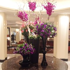 """@Loukia's photo: """"Beautiful flowers in the lobby of the #OmniBerkshirePlace in #NYC!"""""""