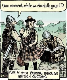 Checking a Scot's ID