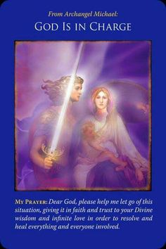 Prayer: Dear God, please help me let go of this situation, giving it in faith and trust to your Divine wisdom and infinite love in order to resolve and heal everything and everyone involved. Angel Guidance, Spiritual Guidance, Archangel Prayers, Doreen Virtue, A Course In Miracles, Angel Cards, Oracle Cards, My Prayer, Spirit Guides