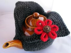 ❥Knit & Crochet Tea Cosies, Mug Hug Snugs and Cuppa Cosies. Contemporary tea cosy by Shazzas Knits