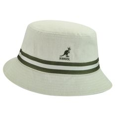 3a571f92cc6 The Stripe Lahinch is an updated version of the classic back in the days  cotton bucket hat. It has a stripe band   a pop colour underbrim   matching  taped ...