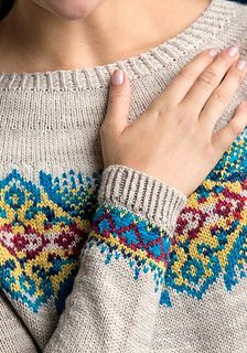 Ravelry: Byzantine Pullover pattern by Tanis Lavallee