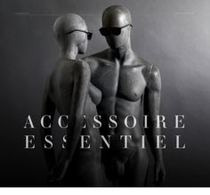 """Accessoire Essentiel. This new Lookbook features 12 sunglasses & 10 optical glasses in a pure & elegant style. The focus is on the only essential accessory: the glasses. Products are shooted on close-up mannequins reflecting the fashion world & the brands attitude. Due to their abstract appearance, the glasses become the only """"real"""" object. To separate sunglasses from optical glasses within the book, two different types of mannequins are used. Optical Glasses, Separate, Attitude, Pure Products, Sunglasses, Abstract, Elegant, Projects, Books"""