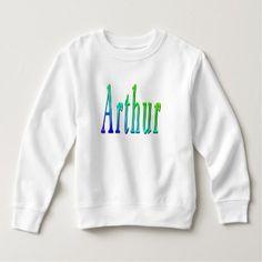 Arthur Name Logo Toddler White Sweatshirt. Sweatshirt - unusual diy cyo customize special gift