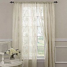 image of Laura Ashley® Frosting Window Curtain Panels