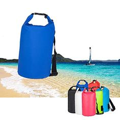 LECCERAzaker PVC Waterproof Dry Bag for Kayaking Beach Rafting Boating Hiking Camping and Fishing by Earth Deep Blue 20L -- Learn more by visiting the image link.Note:It is affiliate link to Amazon.