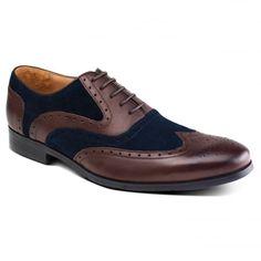 Miller ZM3749 Brown/Blue Shoes