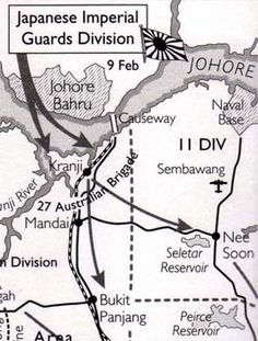 10 Feb 1942 Due to a misunderstanding of orders, the Australian 22nd Brigade withdraws from the Kranji-Jurong Defence Line to the amazement of the invading Japanese forces. The western defence sector of Singapore has fallen.
