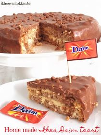 Ik hou van bakken: Home made Ikea Daim taart (glutenvrij) Chocolate Almond Cake, Almond Cakes, Chocolate Recipes, Sweet Recipes, Cake Recipes, Dessert Recipes, Daim Cake, Just Desserts, Delicious Desserts