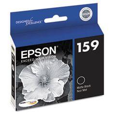 Epson 159 Matte Black High-Gloss Ink Cartridge (T159820) for Stylus Photo R2000 Printer.