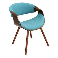 LumiSource Curvo Chair in Walnut/Teal  Love the POP of color