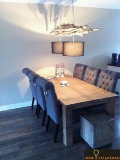 Houten hanglamp voor boven eetkamertafel | Houten Lampen