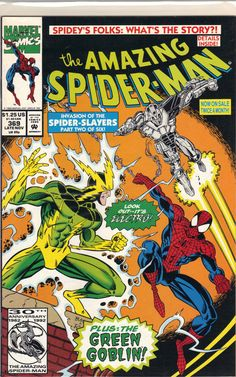 """""""Electric Doom""""Collected in Spider-Man: Invasion of the Spider-Slayers TPB. Marvel Comic Book Amazing Spider-Man 369 A Marvel Comic Books, Marvel Dc Comics, Comic Books Art, Comic Art, Marvel Heroes, Amazing Spider Man Comic, Amazing Spiderman, Book Cover Art, Comic Book Covers"""