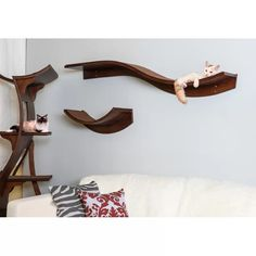 Cat Wall Furniture, Ikea Furniture, Painted Furniture, Furniture Removal, Cat Climbing Wall, Cat Climbing Shelves, Cat Walkway, Hiding Cat Litter Box, Cat Wall Shelves