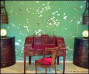 Griffin and Wong green wallpaper Shen de Tang Installation