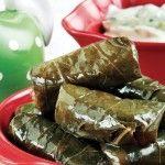 Ντολμαδακια γιαλαντζι με αμπελοφυλλα! Vegetarian, Ethnic Recipes, Food, Hoods, Meals
