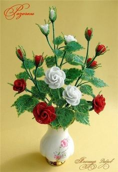 free beaded rose pattern - Google Search