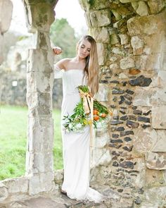Make sure to check out @ruffledblog & @corettefaux1's latest project: an 11th Century Abbey inspired #weddingshoot <3 Thank you for featuring our #SS16 SABRINA maxi dress in ivory, we're thrilled to see the final result of your beautiful work!