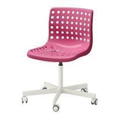 SKÅLBERG / SPORREN Silla giratoria, rosa, blanco - - - IKEA