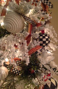 Kitchen tree my Mackenzie-Childs Christmas tree