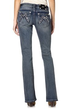 """Check out """"Power Point Signature M Boot Cut Jeans """" from Miss Me"""