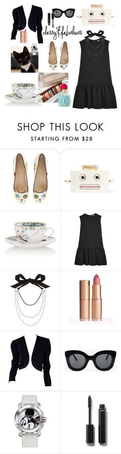 """lazy saturday afternoon tea"" by reny-a on Polyvore featuring Miu Miu, Charlotte Olympia, Hermès, Lanvin, Yves Saint Laurent, CÉLINE, Chopard, Grace and Chanel"