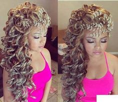 Quince Hairstyles quinceanera hairstyles with tiara Love This Style More Quince Hairstylesquinceanera